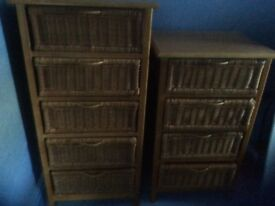 MATCHING WICKER DRAWS FOR SALE.