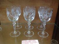 Royal doulton glasses etched