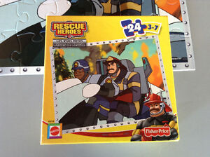 CASSE TÊTE FISHER PRICE 2002 RESCUE HEROES 24 MORCEAUX 3-7 ANS Gatineau Ottawa / Gatineau Area image 4