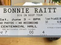 Bonnie Raitt ticket