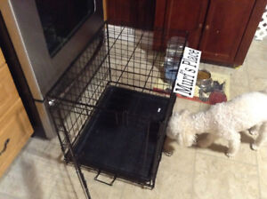 Dog crate used a couple weeks, like new $50 firm
