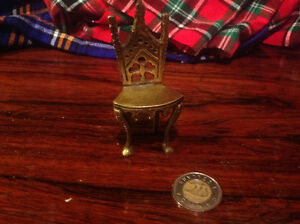 Miniature brass chair/throne