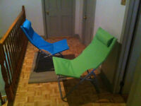 New canvas lounge chairs