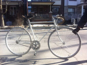 Smooth Fixed Gear White Bike