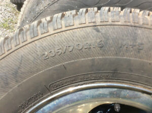 235/70/16 M/S Hercules ,like new on 1998 F150 2wd Rims $550
