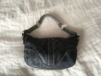 Authentic COACH Small Hobo bag with Snakeskin Trim