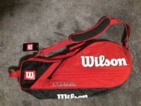 Brand new Wilson badminton bag with Carlton isometric racquet. Half price