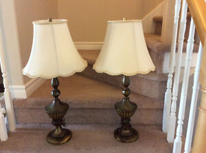 Antique brass table lamps