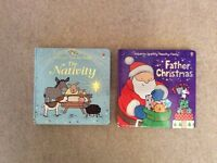Usborne Sparkly Touchy Feely Christmas Nativity Baby Toddler Books Gift