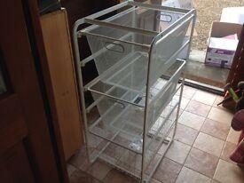 IKEA metal drawer unit
