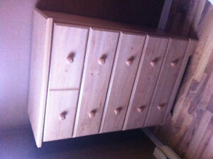 Boys bed, side table and dresser