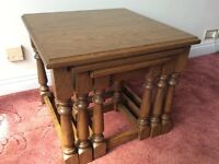 Solid Oak Coffee table set x3