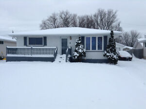 3 bedroom house with finished basement for rent