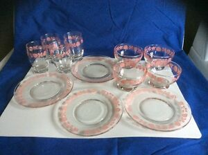 Set of 4 juice glasses, 4 berry dishes, and 4 dessert plates