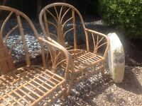Bamboo Settee and Chair
