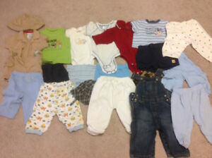 Baby boy clothes, size 0-6M