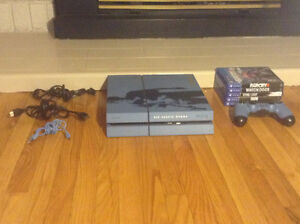PS4 Uncharted Blue Edition with 5 Games