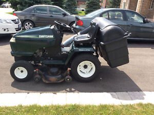 "Sears 46"" riding mower with grass catcher"