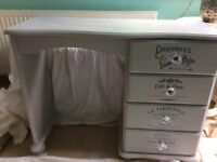 Annie Sloan Paris grey desk/dressing table