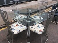 Lighthouse themed glass table n chairs