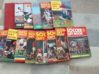 Soccer gift books 1957-58 to 1971-72