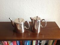 Silver plated tea and coffee pots