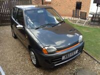 Fiat Seicento Sporting finished in rare Dark met grey and orange