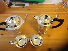 4 piece silver tea service