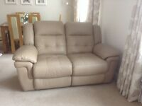 As New Lovey Recliner Leather 3 Piece Suite