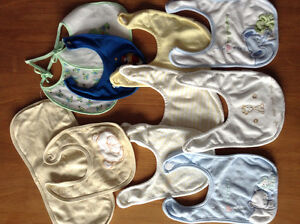 Baby bibs and Kushies diaper cover