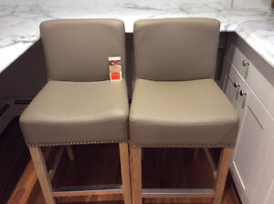 $125 each (26in)counter height  stools taupe leather