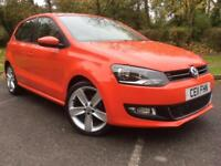 Volkswagen Polo Red 1.6TDI ( 90ps ) 2011MY SEL 5 Door £30 Tax Cheap