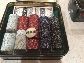 Two poker sets (£10 for both or £7 each)