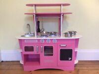 ELC Pink Wooden Play Toy Kitchen Diner Retro - Stunning