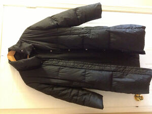 Jacob ladies down long black winter jacket S