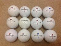 12 WILSON STAFF GOLF BALLS