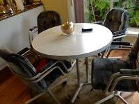 kitchen table, four chairs