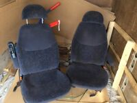 Two caption Swival seats camper van