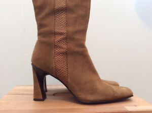 One-of-a-kind Tall Suede Boots from Browns Couture