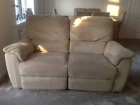 3 piece reclining suite - sofa and chairs