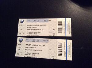 2 billets Impact VS LA Galaxy au stade Saputo - 29 mai 19h