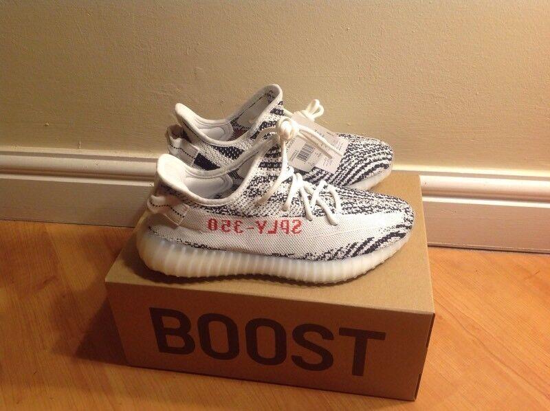 c177404f2aac1 Adidas Yeezy Boost 350 V2 Zebra Trainers UK 7 Brand new!!