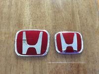 Honda Civic red emblem logos