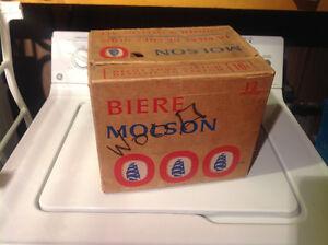 Vielle caisse de biere  DES année 70 pour grosse bt de Molson