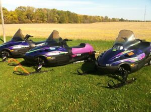 2 arctic cat sleds 1-340 2-440 both low miles and mint