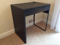 Small desk with drawer - black brown