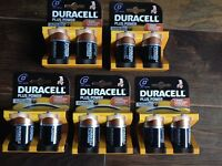 Brand New Duracell D Cell Batteries x 5 packs