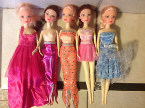Barbie dolls for girls toys games five dolls