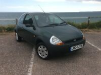 Ford KA 2004 1.3 3 door hatchback in green. one owner, low mileage!!