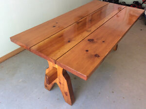 Solid pine Settlers dining table. PRICE REDUCED!!